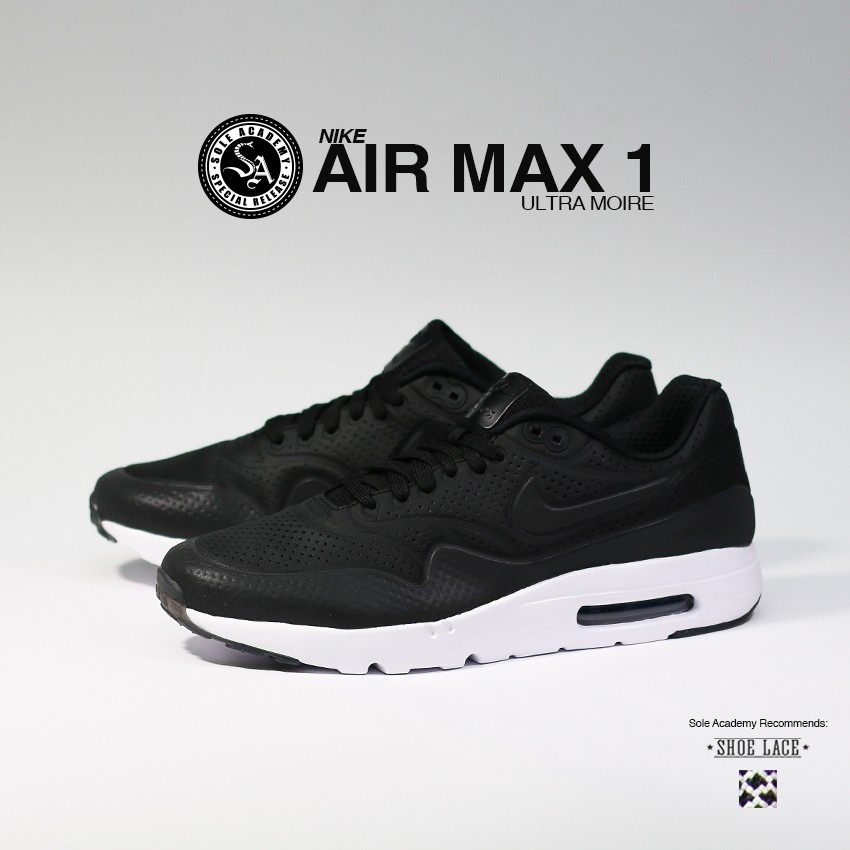 "NIKE AIR MAX 1 ULTRA MOIRE ""Blk/Blk Wht"""