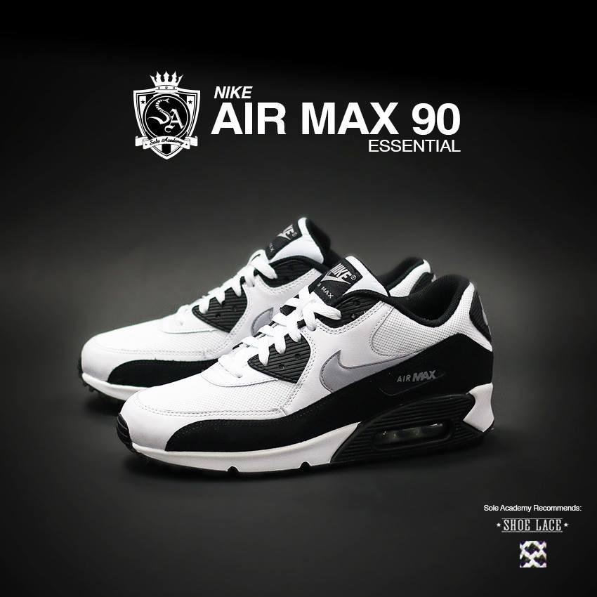 """NIKE AIR MAX 90 ESSENTIAL """"Wht/Wlf Grey-Black"""""""