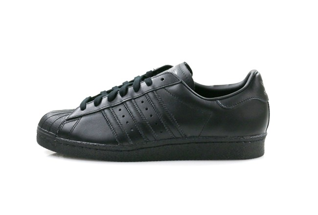 ADIDAS SUPERSTAR 80's <Black/Black-Black>