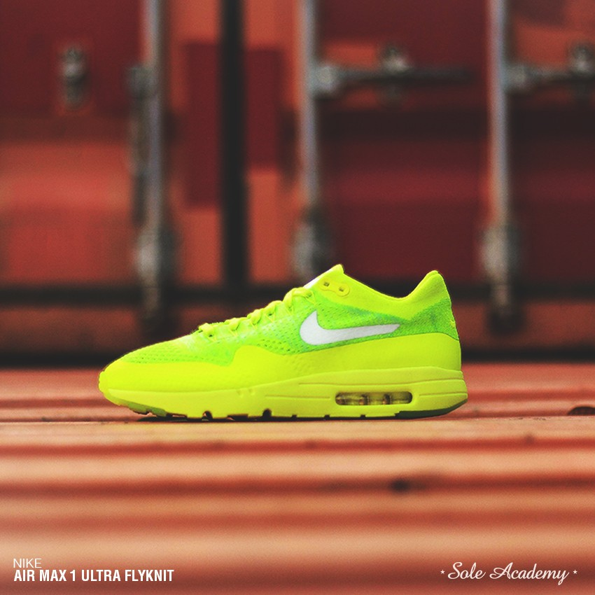 """NIKE AIR MAX 1 ULTRA FLYKNIT """" Volt/White"""""""
