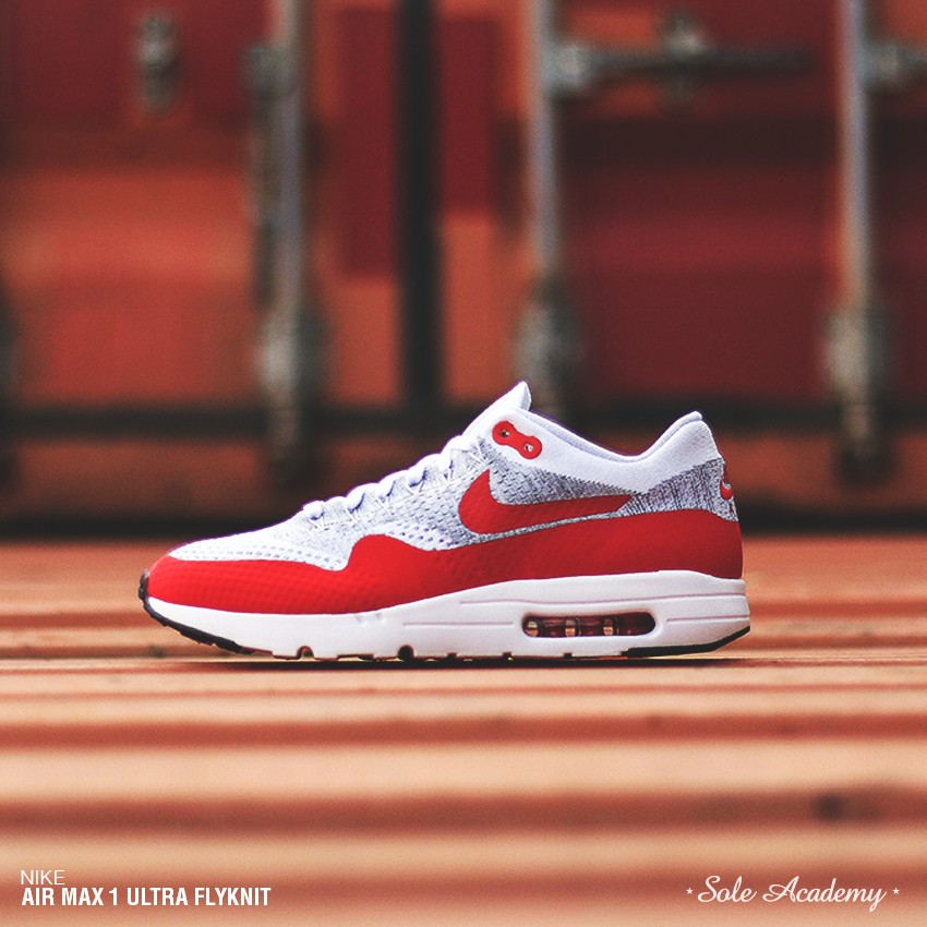 """NIKE AIR MAX 1 ULTRA FLYKNIT """" White/Unvrsty Red"""""""