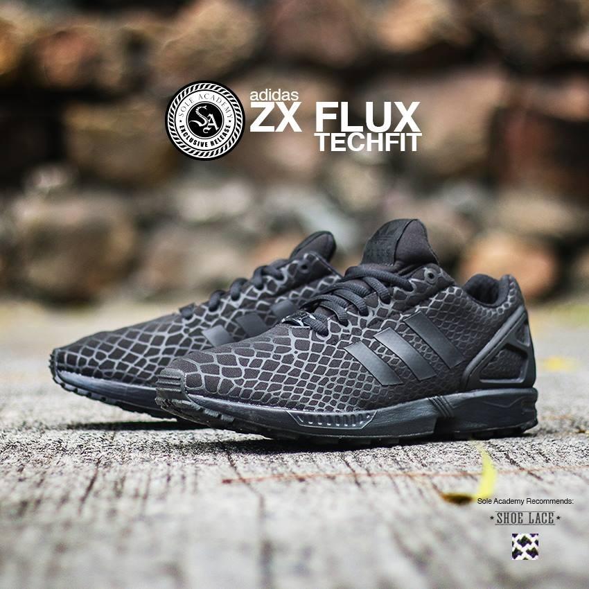 adidas ZX FLUX TECHFIT 'TRIPLE BLACK'