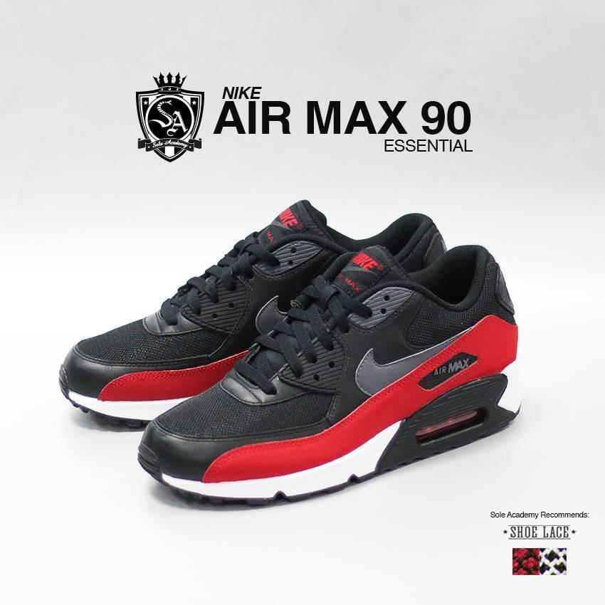 NIKE AIR MAX 90 ESSENTIAL- BLACK/DARK GREY-BLACK
