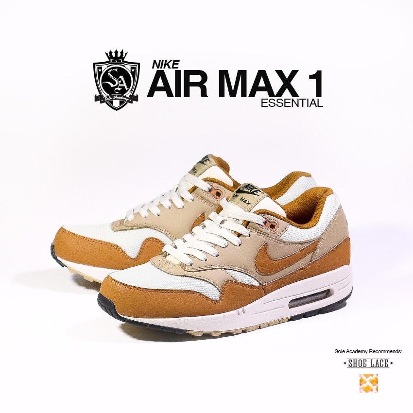 NIKE AIR MAX 1 ESSENTIAL 'Lght BN/Ale Brwn-Khk'