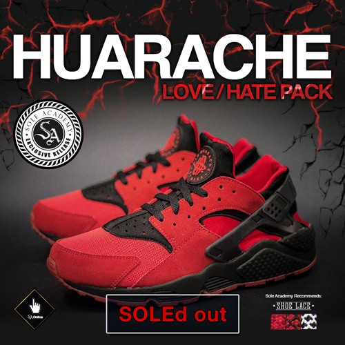 "NIKE AIR HUARACHE RUN (LOVE/HATE) (University Red/Black) ""University Red"" [EXCLUSIVE RELEASE] [1 size/SKU/person]"