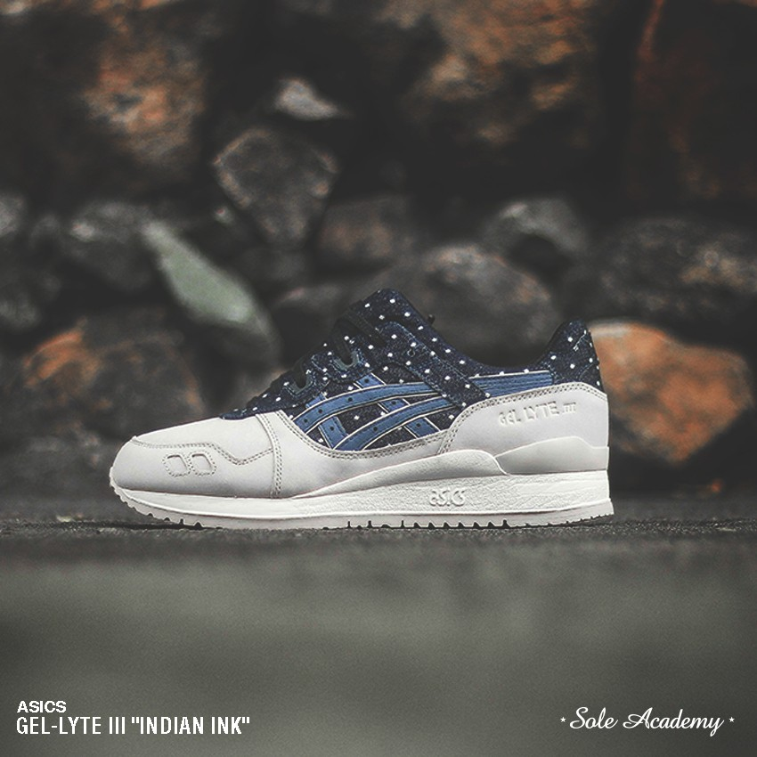 "ASICS GEL-LYTE III ""Made of Japan Polka Dot"" <WHITE/NAVY>"