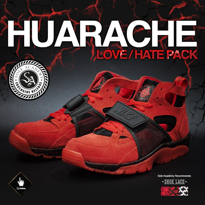NIKE AIR TRAINER HUARACHE (LOVE/HATE) [EXCLUSIVE RELEASE] [1 size/SKU/person]